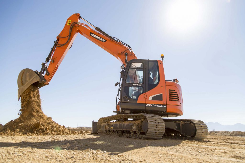 Doosan's new DX140LC/LCR-5 excavators boast power control, several design improvements
